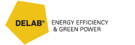 Delab | Energy Efficiency & Green Power Logo
